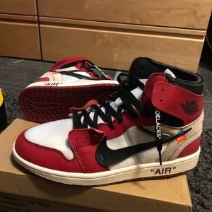 "Off white Jordan 1 ""Chicago"""